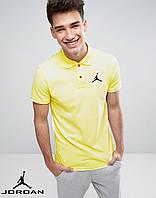 Футболка Поло Jordan   Желтая тенниска Джордан
