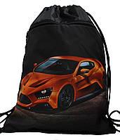 Сумка для сменки Оранжевая Машина  для мальчика 1205-6