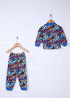 Детская Пижама (кофта, штаны) кулир 80-86