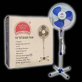 Вентилятор напольный 130х40 см.Changli Crown, Медная обмотка двигателя!