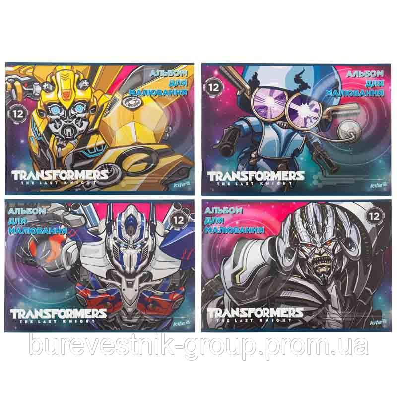 "Альбом для рисования Kite ""Transformers"" 12 листов (TF17-241)"