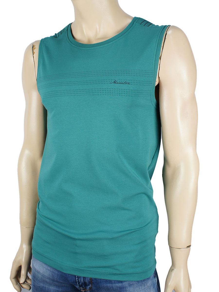 Чоловіча безрукавка Maraton 12668 в зеленому кольорі