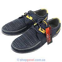 Чоловічі туфлі Lemar 1048-18 синього кольору