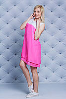 Женское  летнее платье розовое, фото 1