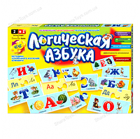 Логическая азбука-пазл на русском языке