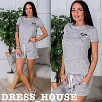 Женский стильный костюм: футболка и шорты (3 цвета), фото 1