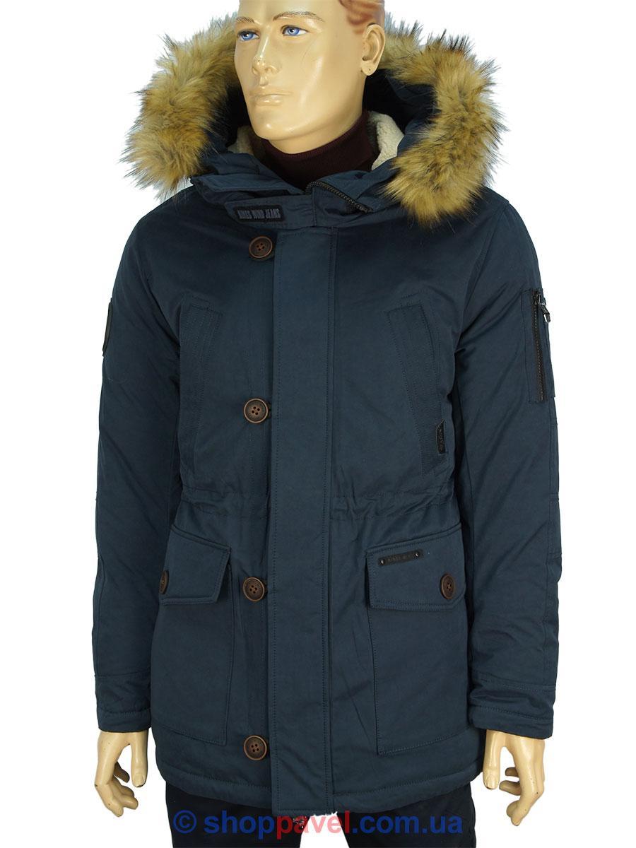 Подовжена чоловіча зимова куртка Kings Wind W001H