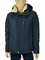 Зимова чоловіча куртка Black vinyl C16-778S17 #2 в темно-синьому кольорі