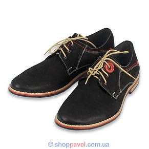 Чоловічі туфлі Markko M-174 нуб.чорного кольору, фото 2