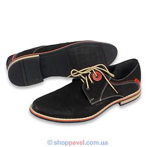 Чоловічі туфлі Markko M-174 нуб.чорного кольору, фото 3