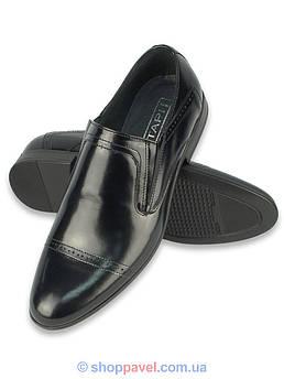Туфлі чоловічі  шкіряні  A-5704 чорного кольору