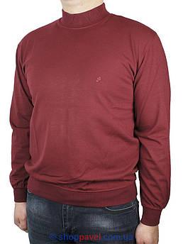 Чоловічий батник La Peron комір-стійка в бордовому кольорі