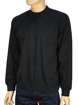 Чоловічий батник La Peron комір-стійка в чорному кольорі