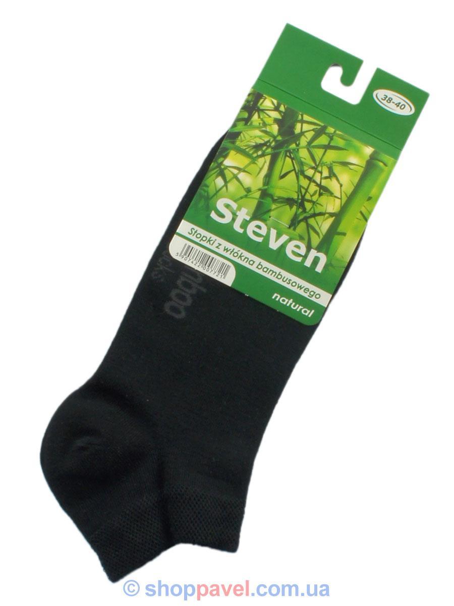 Чоловічі шкарпетки Steven стопи 060 чорні бамбук