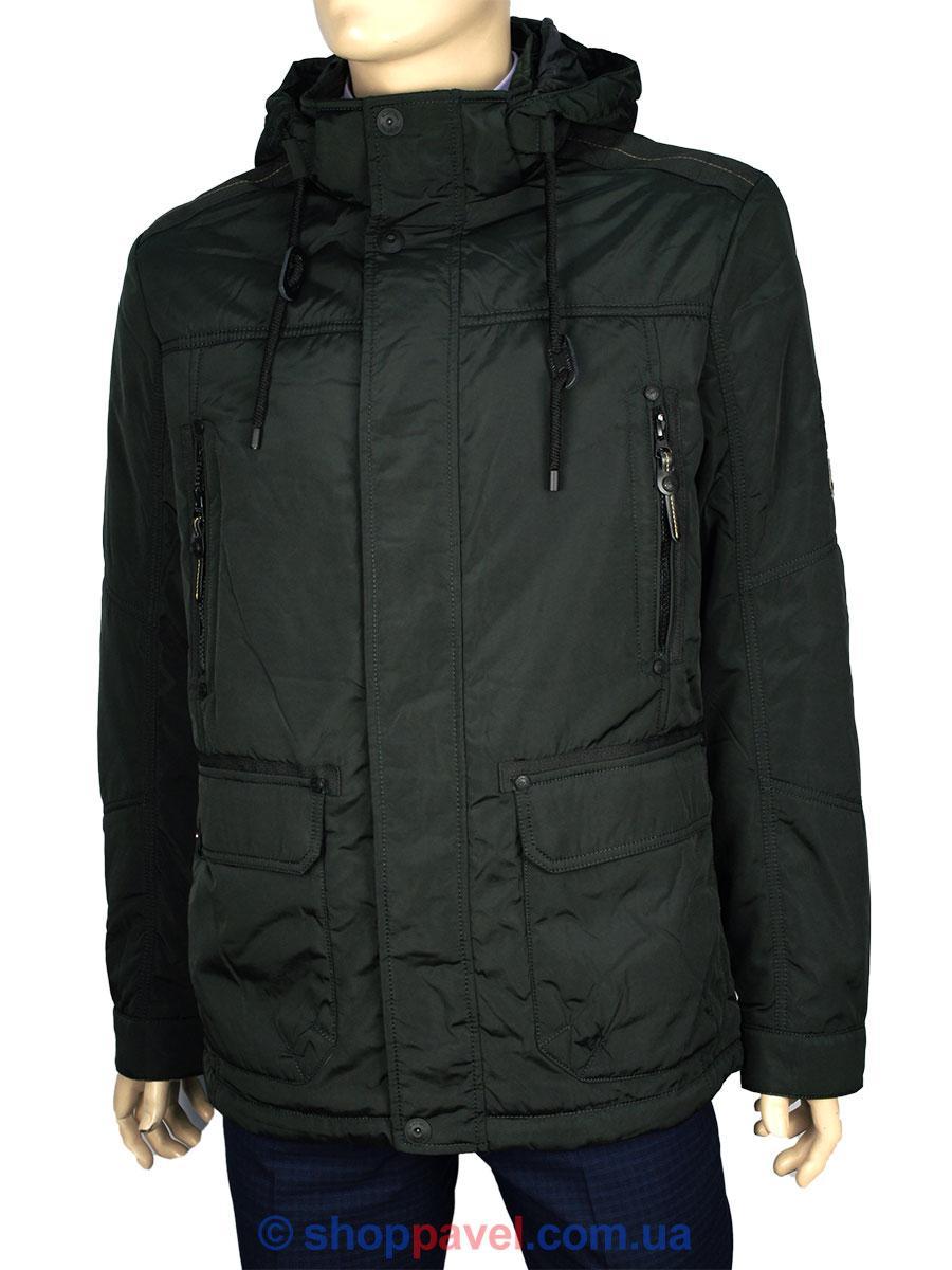 Чоловіча демісезонна куртка Black vinyl TC16-1127 C. 21