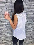 Женская красивая блуза с прошвой, фото 3