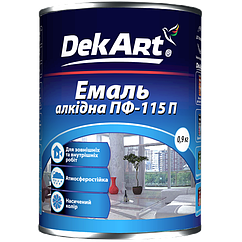 Эмаль алкидная  DekArt ПФ-115П, белая глянцевая 0,9 кг