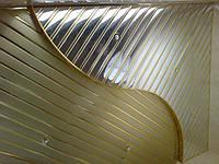 Зеркальный реечный потолок: панель 84мм, цвет: хром, золото, медь