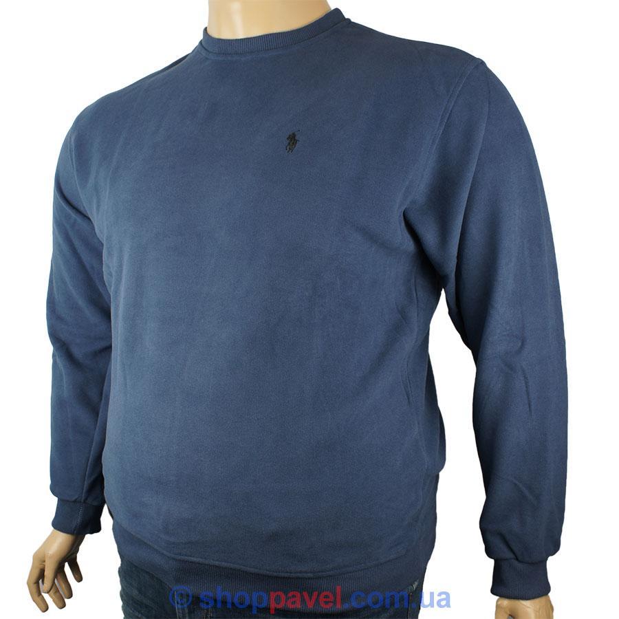Синій чоловічий светр реплика P 0490 B великих розмірів