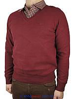Чоловічий светр-обманка Better Life 753 бордового кольору