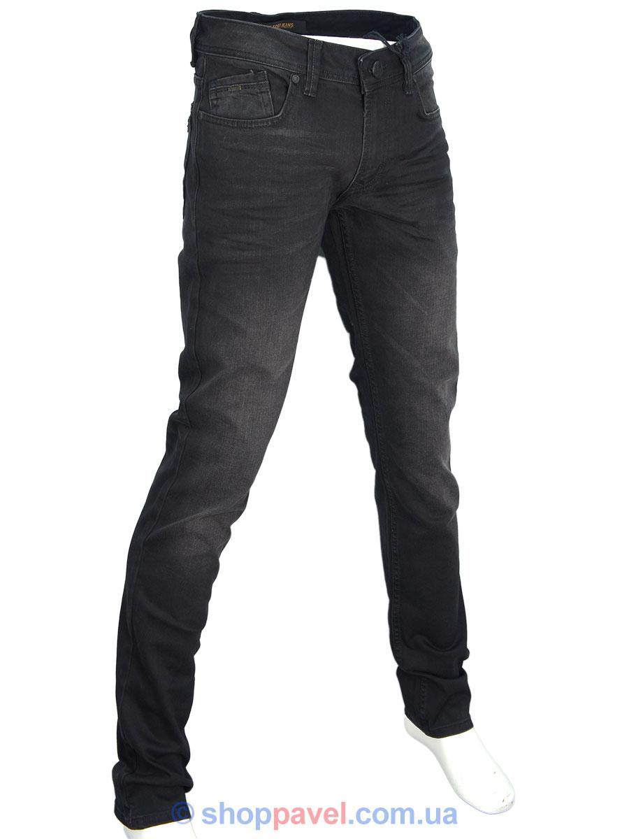 Стильні чоловічі джинси X-Foot 261-2271 в чорному кольорі