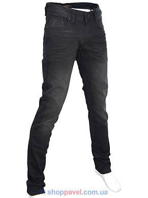 Стильні чоловічі джинси X-Foot 261-2271 в чорному кольорі, фото 2