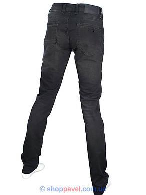 Стильні чоловічі джинси X-Foot 261-2271 в чорному кольорі, фото 3