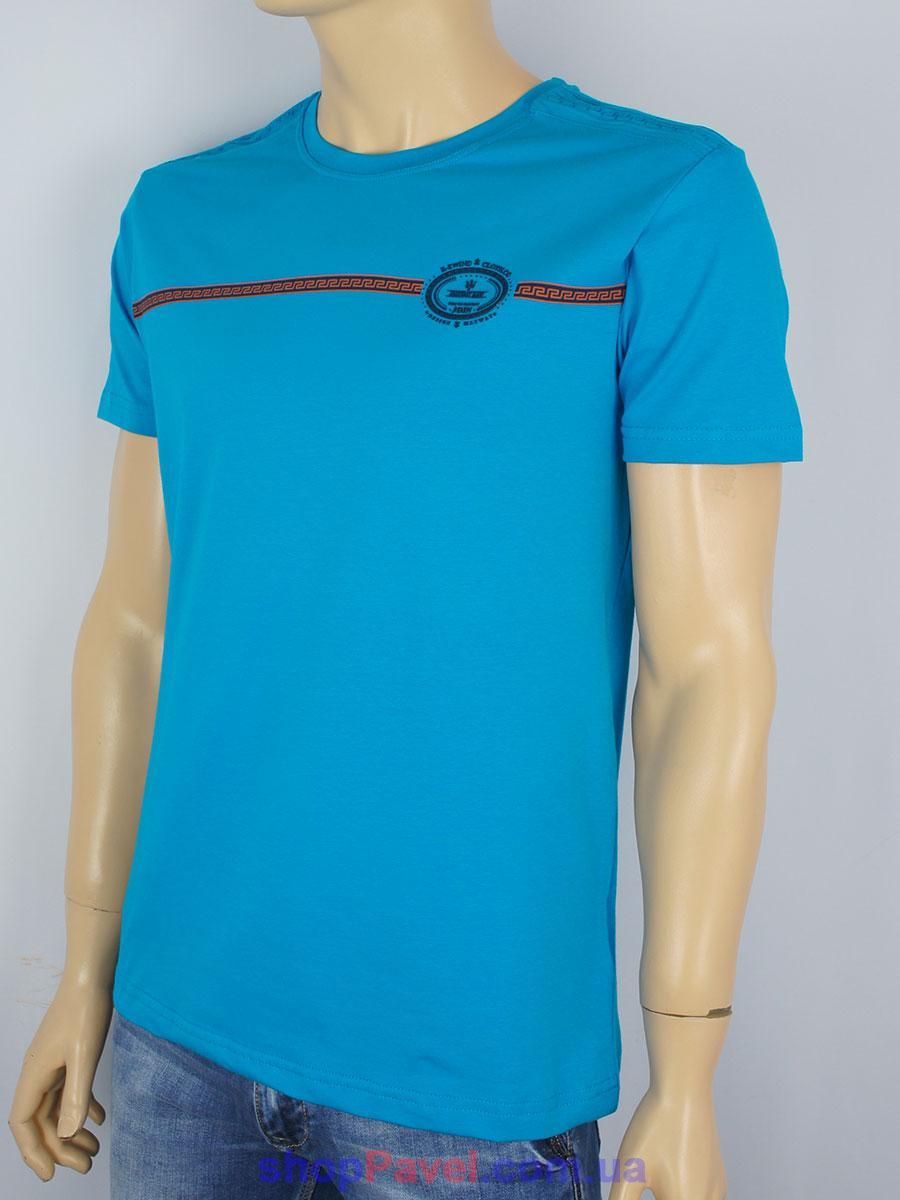 Чоловіча футболка Maxway 4445 H синього кольору