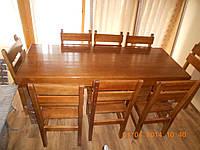 Мебель для ресторанов стол и 8 стульев из сосны