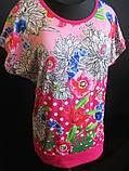 Женские летние футболки с цветами., фото 3
