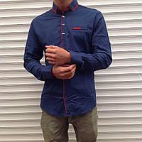 Мужская рубашка модная с длинным рукавом