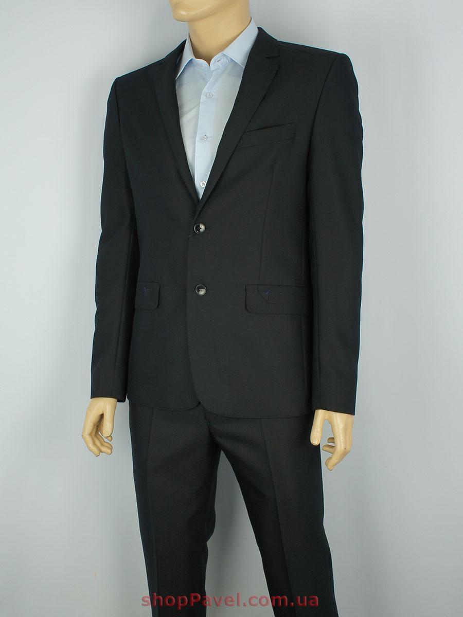 Чорний чоловічий класичний костюм Legenda Class 9164#5