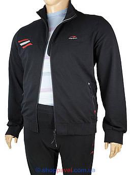 Костюм чоловічий спортивний  Maraton М-11557-U ВТ чорного кольору великих розмірів