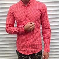 Рубашка мужская стильная с длинным рукавом