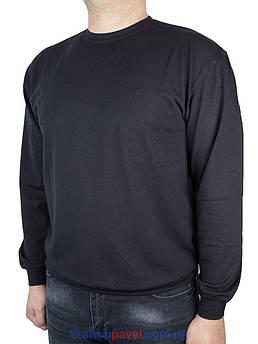 Чоловічий однотонний лонгслив La Peron 0340 в чорному кольорі