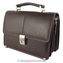 Чоловіча барсетка Bond 1034-286 темно-коричневого кольору
