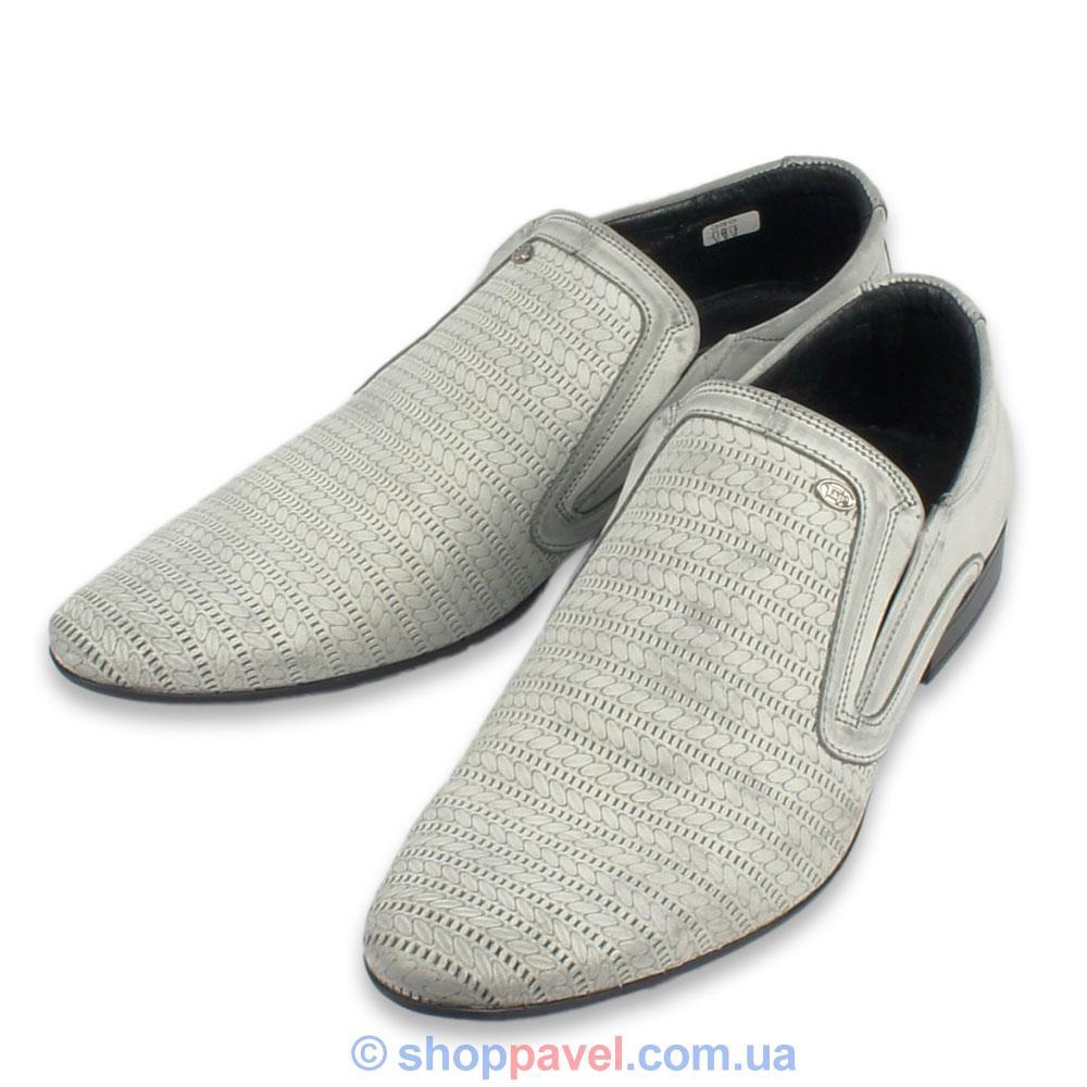 Чоловічі класичні туфлі Tapi 4063 сірого кольору