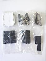 Петля дверная для алюминиевого профиля накладная,черная.