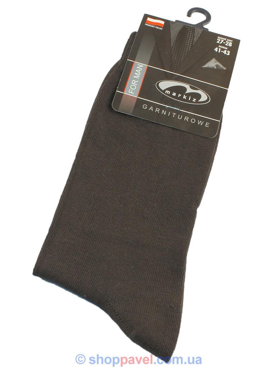 Чоловічі шкарпетки Markiz 016 коричневого кольору