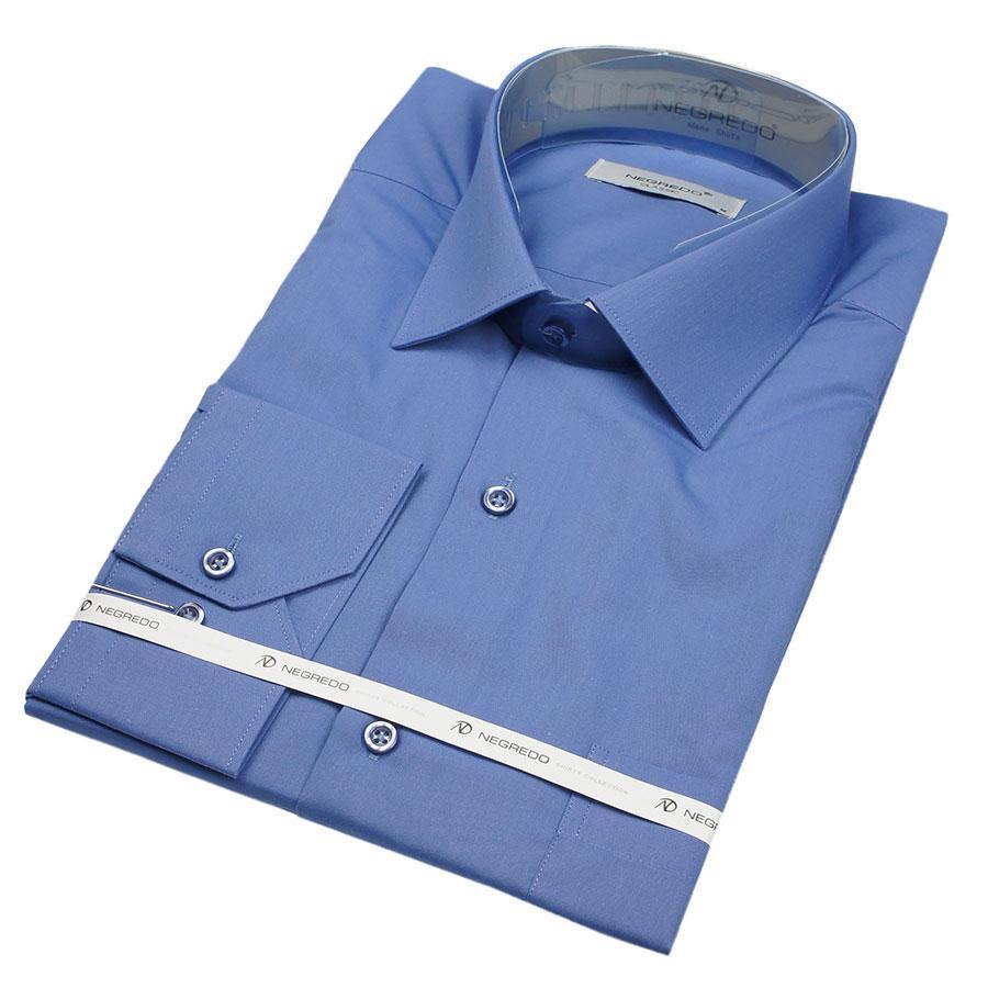 Чоловіча сорочка Negredo 30050 Slim волошкового кольору