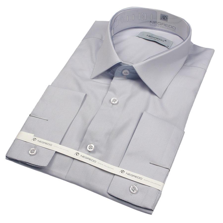 Чоловіча сорочка Negredo 31000 Slim світло-сірого кольору