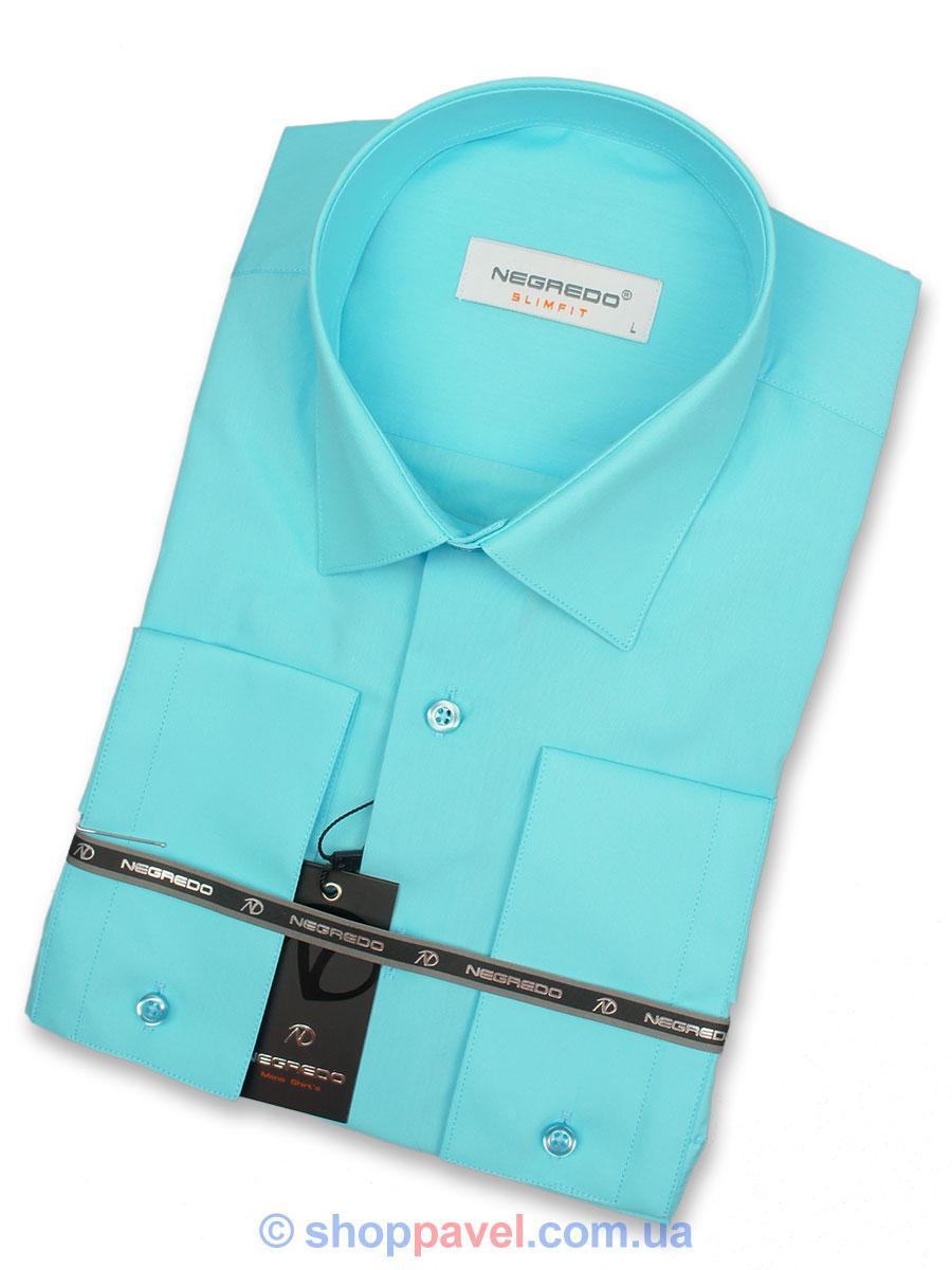 Чоловіча сорочка Negredo 28047 Slim бірюзова