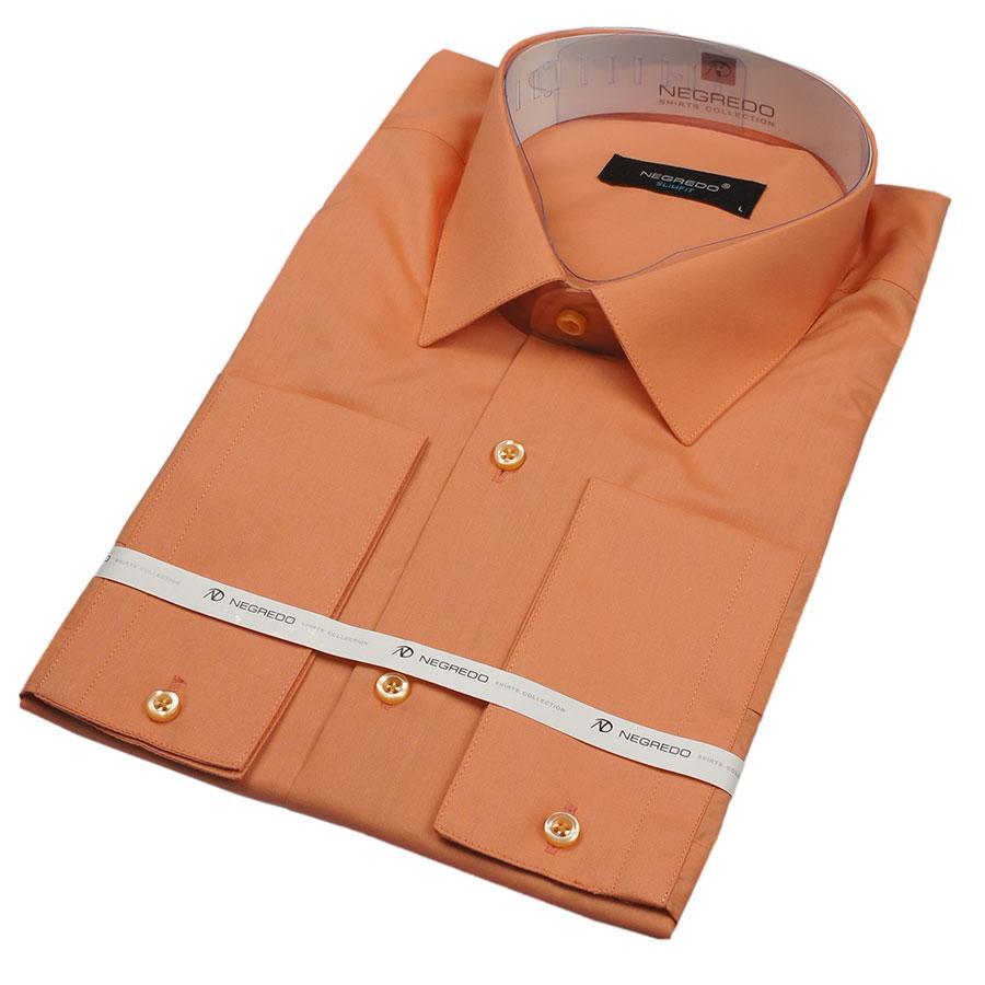 Чоловіча сорочка Negredo 23104 Slim персикового кольору