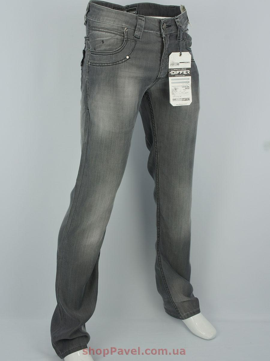 Чоловічі джинси Differ E-1688-1 сірого кольору з потертостями