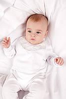 Слюнявчик для новорожденного нарядный  Модный Карапуз  03-00579-0