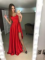 """Шелковое платье удлиненное сзади Цвета """"Valentino"""" ЯЛ, фото 1"""