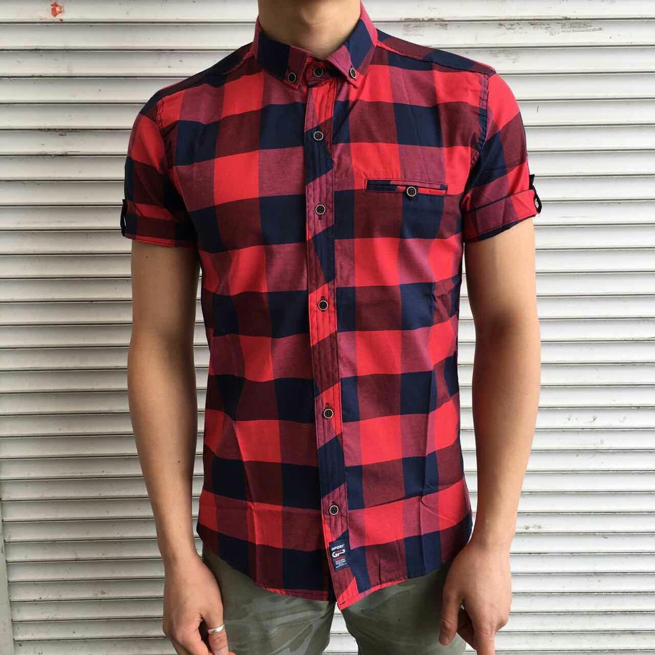 Мужская рубашка с коротким рукавом на лето  продажа, цена в Харькове ... fa534632bb8