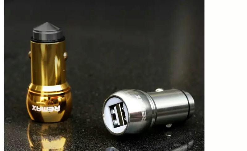 Автомобильное зарядное устройство Remax Bullet RCC-205 2*USB silver