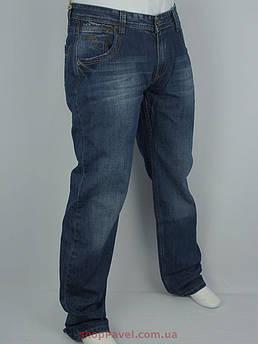 Темно-сині чоловічі джинси X-Foot 140-1528 великого розміру