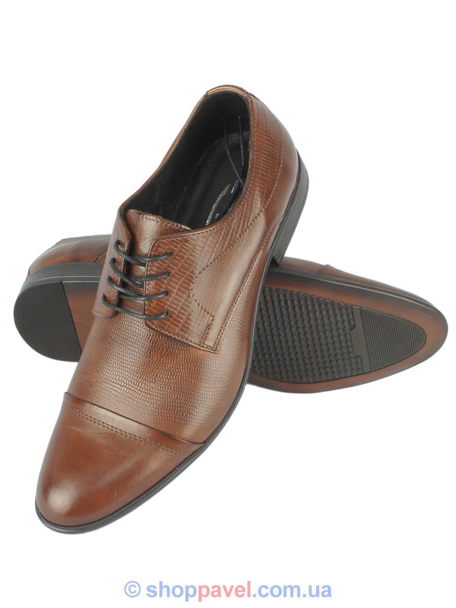 Чоловічі туфли Tapi 4233 коричневого кольору